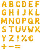 Alfabeto da folha do outono Fotos de Stock Royalty Free