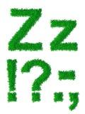Alfabeto da grama verde Foto de Stock