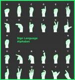 Alfabeto da linguagem gestual Imagem de Stock
