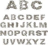 Alfabeto da linha Imagem de Stock