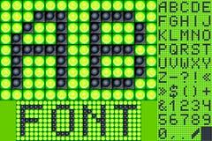 Alfabeto da lâmpada do placar Imagens de Stock Royalty Free