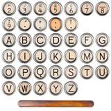 Alfabeto da máquina de escrever Foto de Stock Royalty Free
