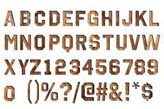 Alfabeto da madeira do vintage Imagens de Stock Royalty Free