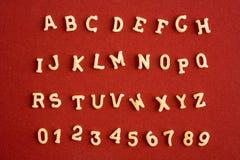 Alfabeto da massa Fotos de Stock Royalty Free