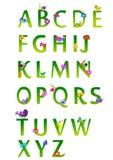 Alfabeto da mola Foto de Stock Royalty Free