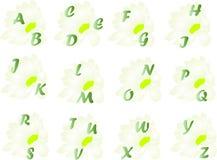 Alfabeto da mola Imagens de Stock
