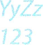 Alfabeto da neve Fotos de Stock