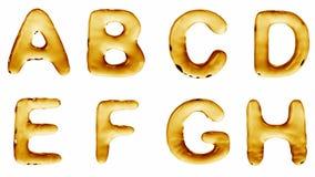Alfabeto da olio isolato su un fondo bianco illustrazione vettoriale