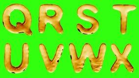 Alfabeto da olio isolato su un fondo verde illustrazione di stock