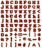 alfabeto da quadriculação 3D, numerais, sinais Imagem de Stock Royalty Free