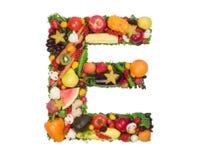 Alfabeto da saúde - E Imagens de Stock Royalty Free