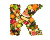 Alfabeto da saúde - K fotos de stock