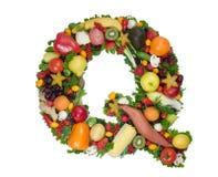 Alfabeto da saúde - Q Fotografia de Stock Royalty Free