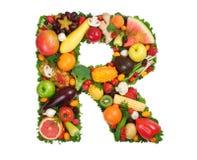 Alfabeto da saúde - R Imagem de Stock