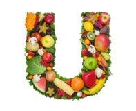 Alfabeto da saúde - U Fotos de Stock Royalty Free