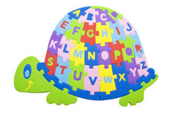 Alfabeto da tartaruga Fotos de Stock