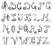 Alfabeto da vinheta Imagem de Stock