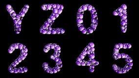 Alfabeto dalla bolla dell'acqua isolata su un fondo nero royalty illustrazione gratis
