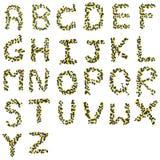 Alfabeto dalle capsule Immagini Stock Libere da Diritti