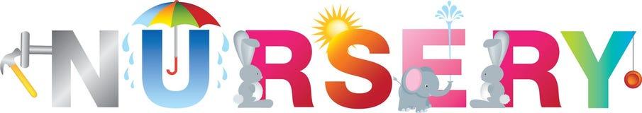 Alfabeto das crianças do berçário Fotos de Stock Royalty Free