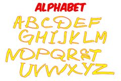 Alfabeto das crianças do vetor ilustração royalty free