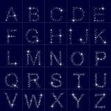 Alfabeto das estrelas, letra ilustração stock