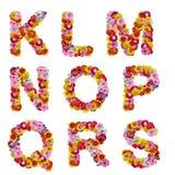 Alfabeto das flores imagens de stock