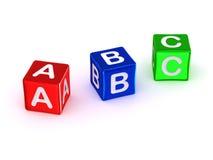 Alfabeto de ABC Fotos de Stock