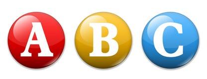 Alfabeto de ABC ilustración del vector