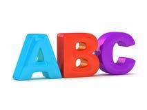 Alfabeto de ABC Foto de archivo