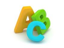 Alfabeto de ABC Fotografía de archivo