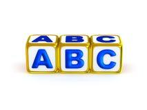 Alfabeto de ABC Imagenes de archivo