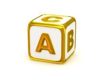 Alfabeto de ABC Imágenes de archivo libres de regalías
