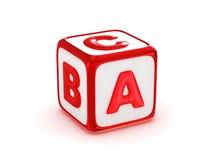 Alfabeto de ABC Imagen de archivo