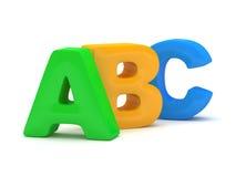 Alfabeto de ABC Fotos de archivo libres de regalías