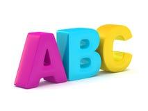 Alfabeto de ABC Imagen de archivo libre de regalías