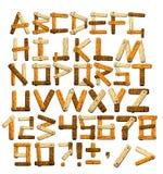 Alfabeto de bambu Fotografia de Stock Royalty Free
