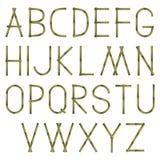 Alfabeto de bambu Imagens de Stock Royalty Free