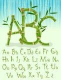 Alfabeto de bambu do eco imagem de stock royalty free