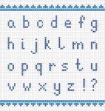 Alfabeto de bordado, pequeñas letras minúsculo Imágenes de archivo libres de regalías