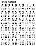 Alfabeto de Braille Fotografía de archivo libre de regalías