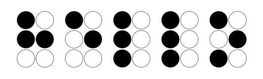 Alfabeto de Braille hola fotos de archivo libres de regalías