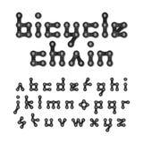 Alfabeto de cadena de la bicicleta Foto de archivo libre de regalías