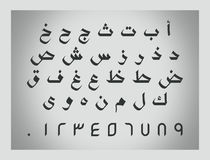 Alfabeto de charla árabe, letras árabes imágenes de archivo libres de regalías