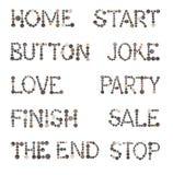 Alfabeto de costura de los botones Fotografía de archivo
