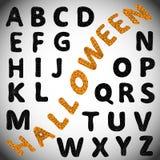 Alfabeto de Dia das Bruxas ABC Foto de Stock Royalty Free