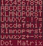 Alfabeto de Digitas e números, nenhuns inclinações Fotografia de Stock