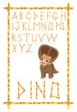 Alfabeto de Dino Fotos de archivo