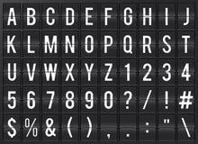 Alfabeto de Flipboard del aeropuerto Imágenes de archivo libres de regalías