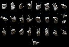 Alfabeto de gestos Fotos de archivo